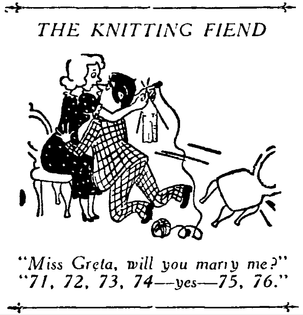 the knitting fiend
