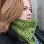 Buttoned Anniversary Cowl